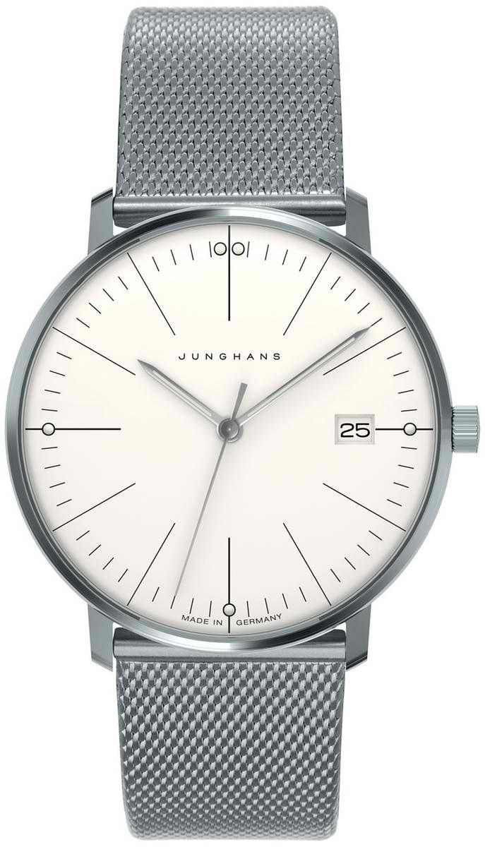Max Bill Automatic White Face Wrist Watch visit shopbalthazar.com