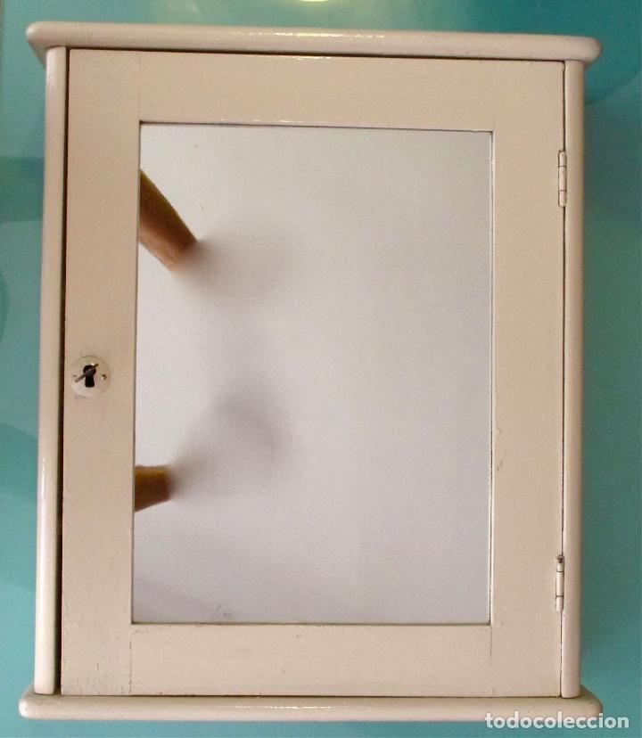 Armario Vitrina Antigua : Vintage armario antiguo ba?o estante mueble cocina
