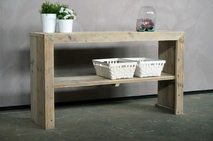 Steigerhouten sidetable Haags