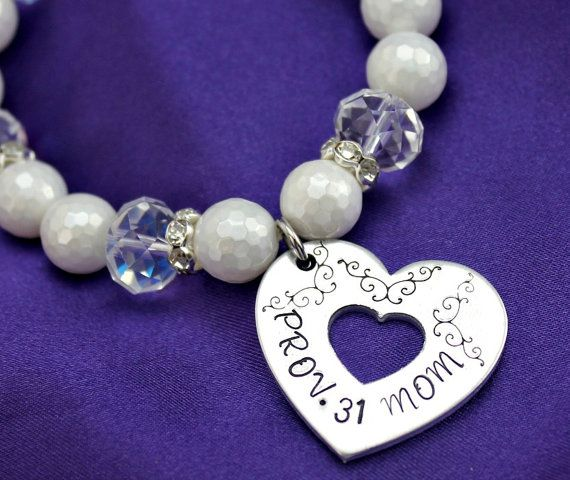 Hey, I found this really awesome Etsy listing at https://www.etsy.com/listing/187417826/prov-31-mom-white-pearl-heart-cut-out