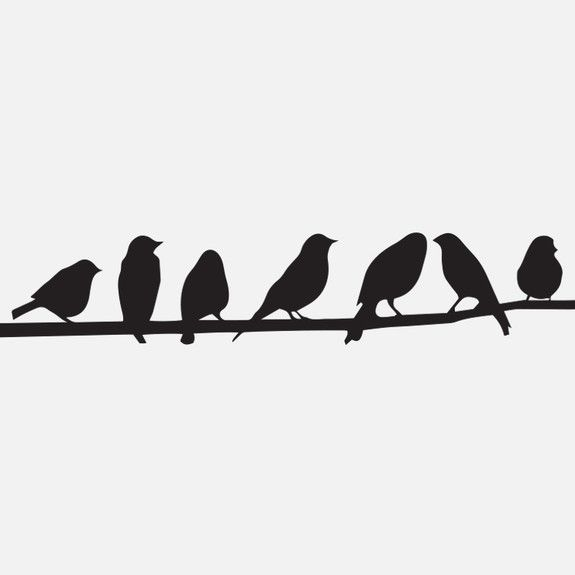 Superbalist - Birds on a Wire Wall Decal
