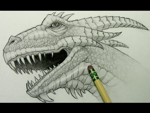 How to Draw a Dragon Head by Mark Crilley. This is a video.