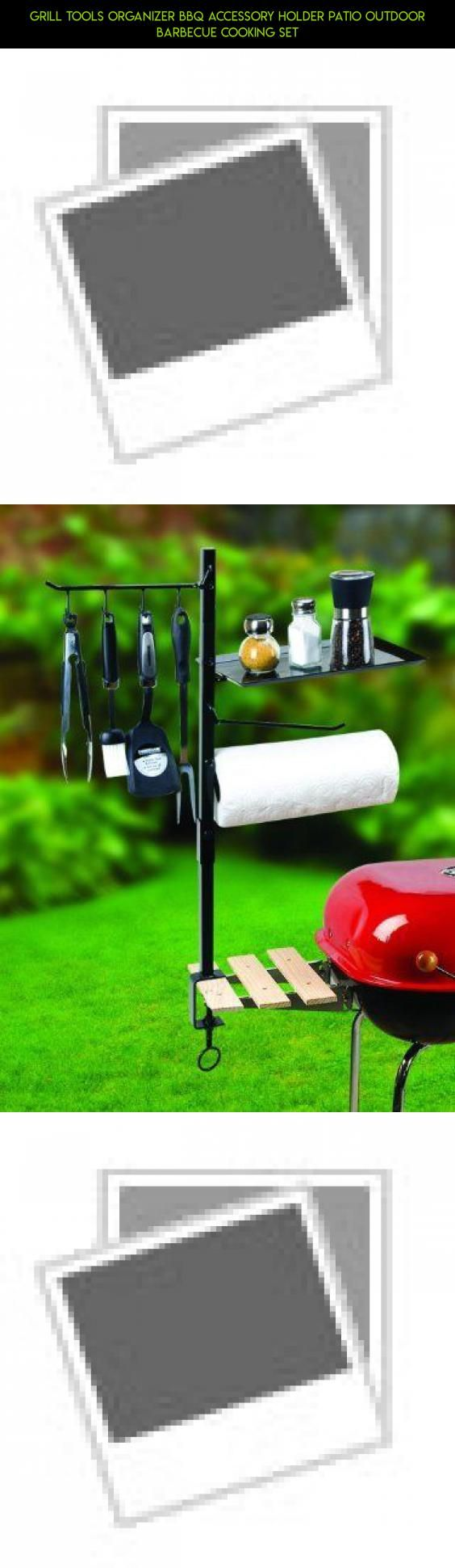 Grill Tools Organizer BBQ Accessory Holder Patio Outdoor Barbecue Cooking Set #racing #fpv #outdoor #organizer #kit #camera #parts #technology #plans #products #gadgets #cooking #tech #shopping #drone