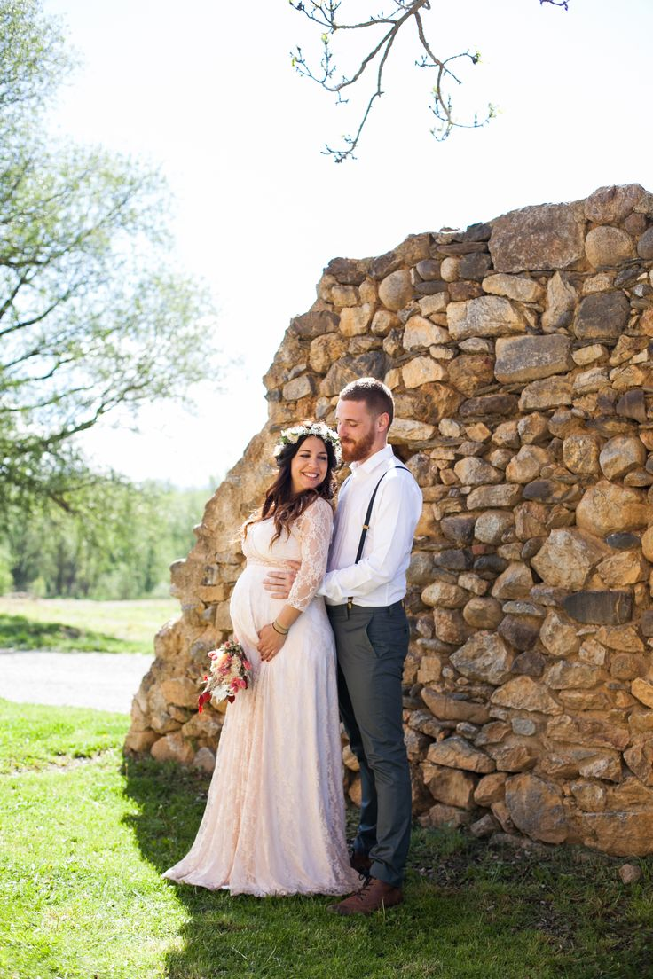 Fall Winter wedding - Maternity Romantic wedding dress - Wrap Dress with sleeves - Lace maternity dress for winter rustic weddings Fall-Winter-Hochzeit - Mutterschaft Romantische Hochzeitskleid - Wickelkleid mit Ärmeln - Spitze Umstandskleid für den Winter rustikale Hochzeiten