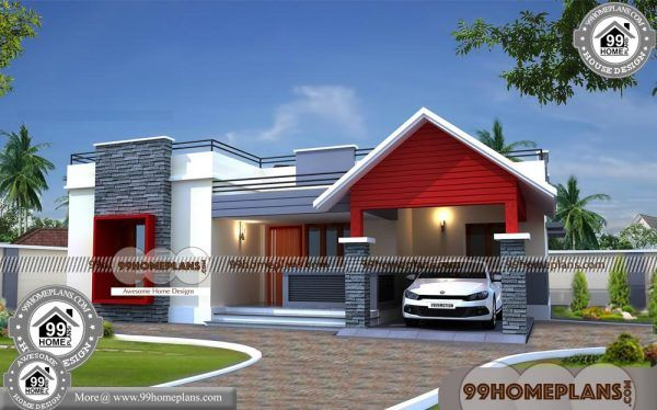 Simple One Story Floor Plans 75 South Indian House Design Collections Kerala House Design One Storey House Modern House Plans
