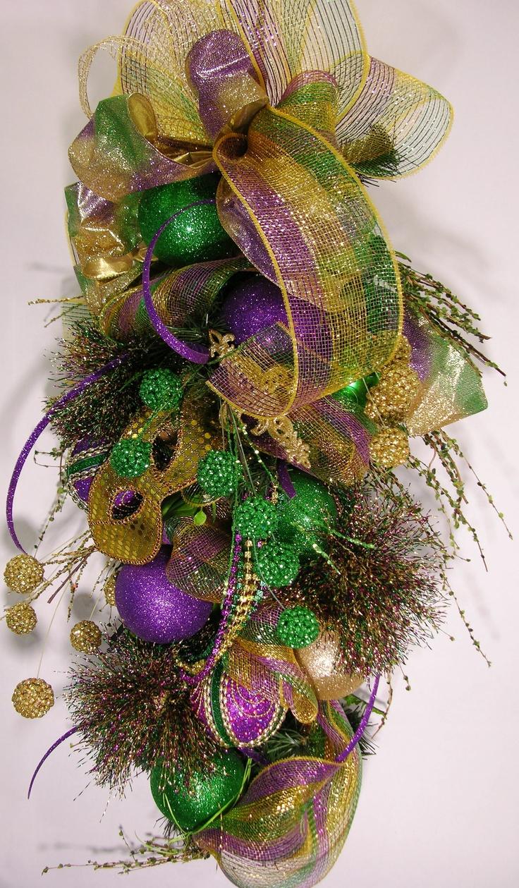Mardi Gras Wreath - MilandDil Mardi Gras Collection 2013 Masked Swag