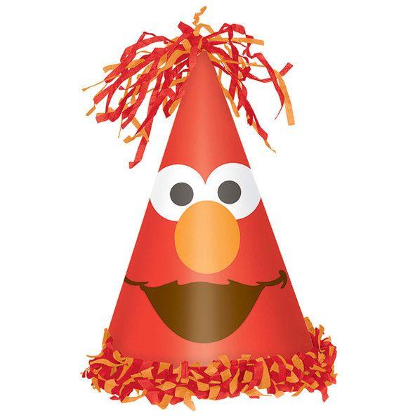Check out Elmo Cone Hat | Elmo's 1st Birthday party supplies from Birthday in a Box from Birthday In A Box