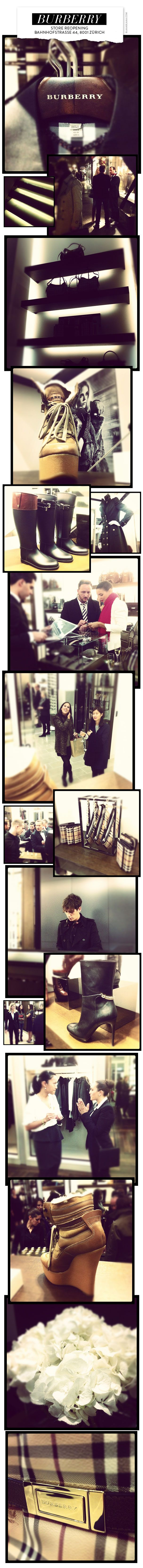 Burberry Store Reopening in Zurich