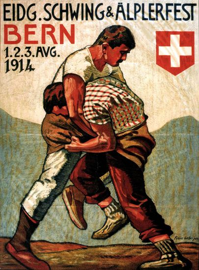 Eidgenoessisches Schwingfest 1914 Bern - Mad Men Art: The 1891-1970 Vintage Advertisement Art Collection