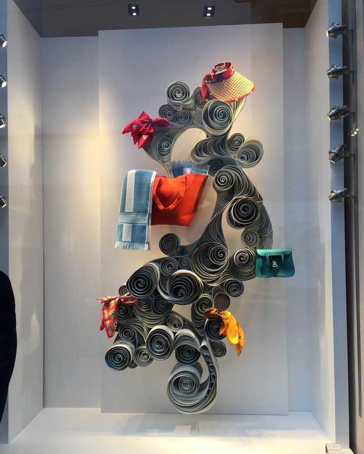 """HERMES,Milan,Italy, """"Hats,Scarves,Bags....All Rolled Up In One"""", for Fuorisalone, pinned by Ton van der Veer"""