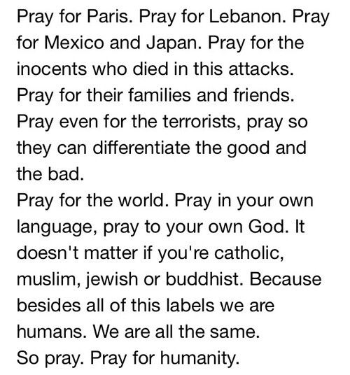 Pray for the world❤ make this a better place.