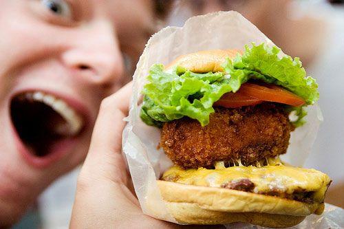 Shake Shack's Stack Shack burger.