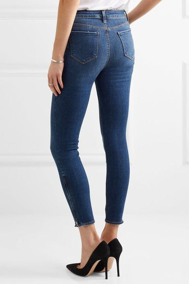 L'Agence - Andrea High-rise Skinny Jeans - Dark denim - 29