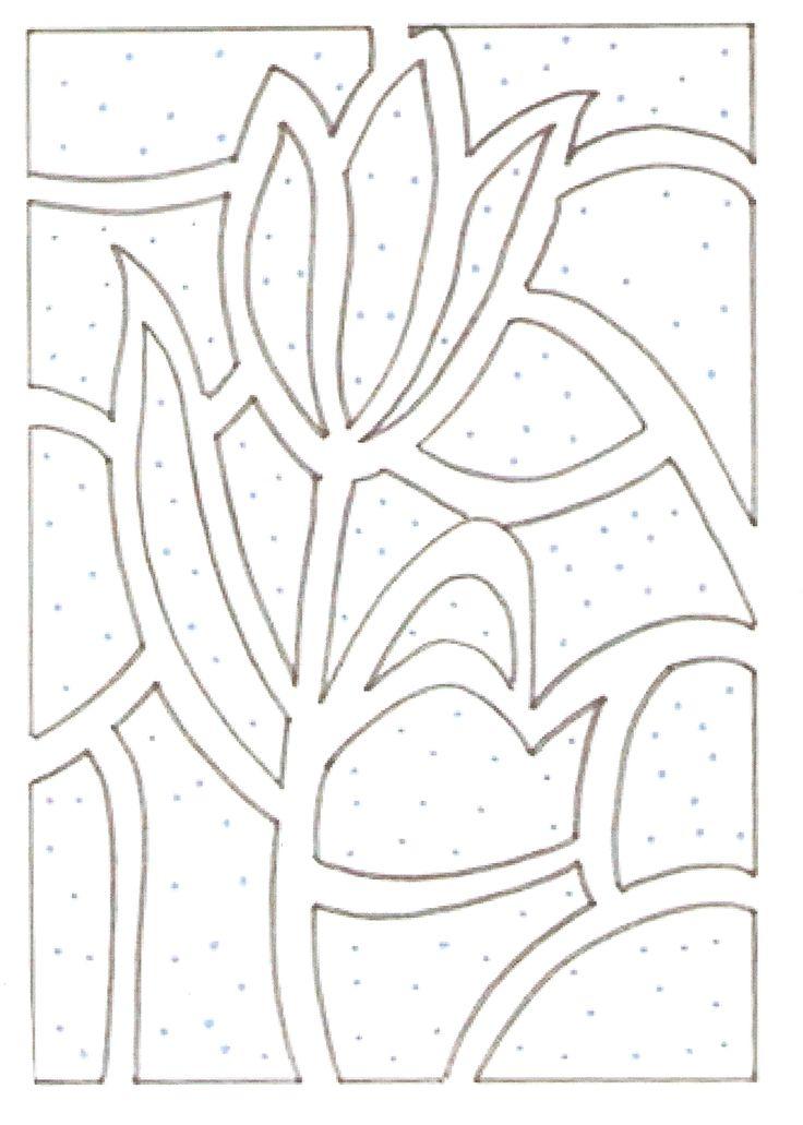 tulipan wycinanka