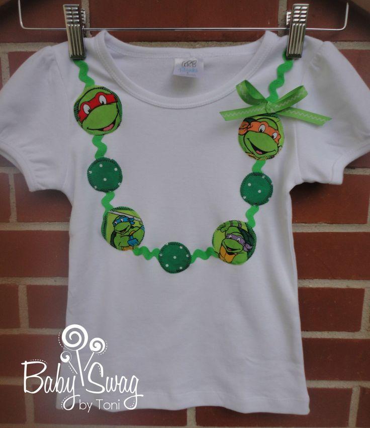 Girls Shirt, Teenage Mutant Ninja Turtle Shirt, TMNT, Necklace shirt, Leonardo, Michaelangelo, Donatello, Rafael, Splinter, Ninja Turtles by BabySwagbyToni on Etsy https://www.etsy.com/listing/201766068/girls-shirt-teenage-mutant-ninja-turtle