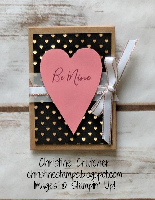Stampin' Up! January 2018 Paper Pumpkin Kit Heartfelt Love Notes alternative project - a treat holder/gift card holder. More details on my blog. Thanks for looking! #stampinup #paperpumpkin #heartfeltlovenotes