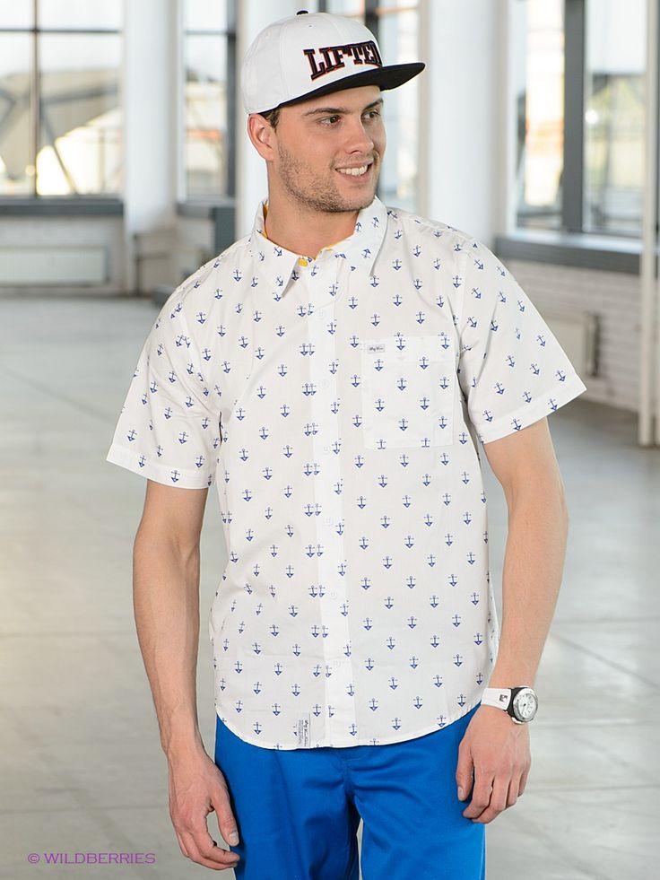 Выбрать в AMODERNA.RU  Стильная рубашка, выполненная из хлопкового комфортного материала с ярким рисунком. Модель с застежкой на пуговицы и отложным воротничком