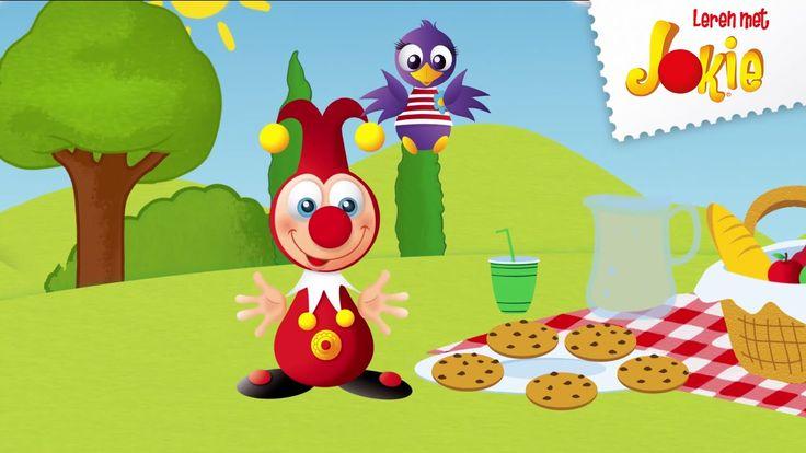 Jokie en Jet gaan picknicken in het park. Ze hebben lekkere koekjes bij zich. Tel maar hardop mee.