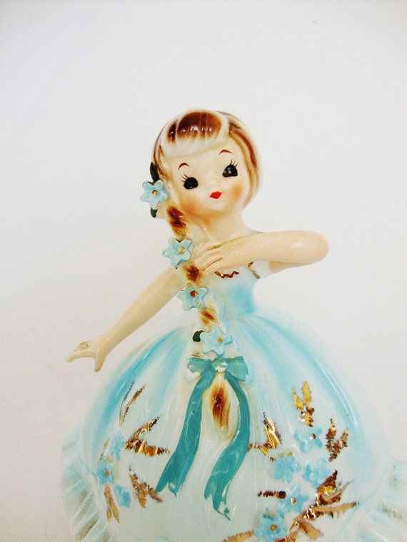 vintage lefton girl figurine marikas originals by Sassydoggs
