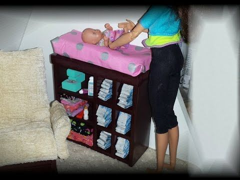 How to make a Baby Doll Changing Table - YouTube