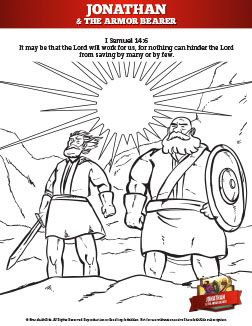 Jonathan And His Armor Bearer Sunday School Coloring Pages Your Kids Are Going To Love