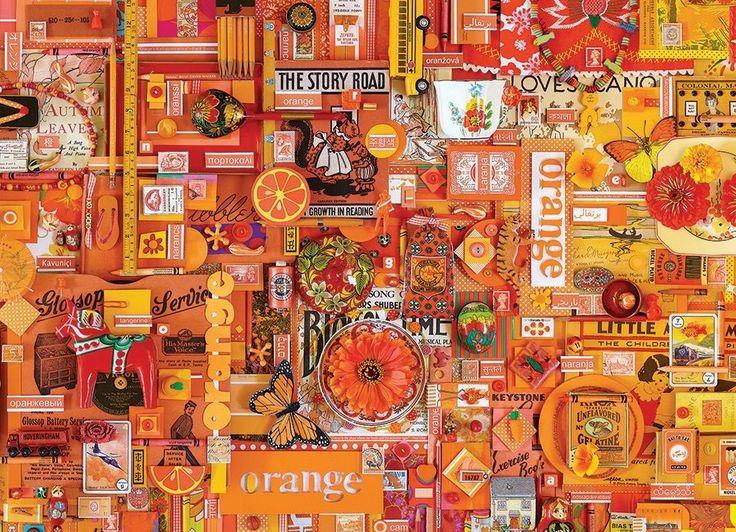 Puzzle COBBLE HILL 51862 Barvy duhy: Oranžová 1000 dílků