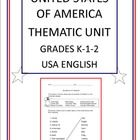 United States of America Thematic Unit.  Take a trip to the USA and your students will have fun with letters, learn totem pole art, go on a gold rush adventure, learn symbols of freedom, visit the animals of the everglades, the statue of liberty, all about Paul Bunyan, go Westward Ho and much more.  Plus they will have a lot of fun while learning.