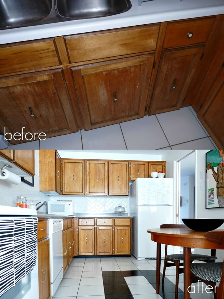 Without Painting Cabinets: How To Refinish And Revarnish Kitchen Cabinets. How To