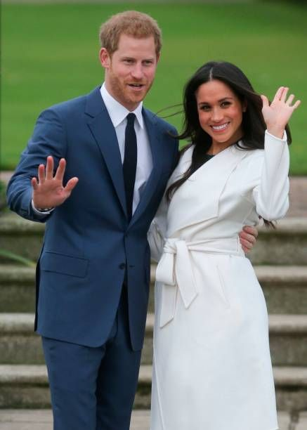 gettyimages: Prince Harry and Meghan Markle during their engagement photocall in the Sunken Garden of Kensington Palace, November 27, 2017
