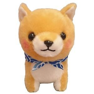 Mame Shiba Dog Memetaro 13 cm Plush Stuffed Doll Amuse From Japan