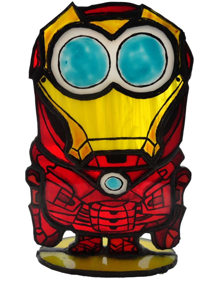"Stained glass stand ""Minion - Iron Man"""