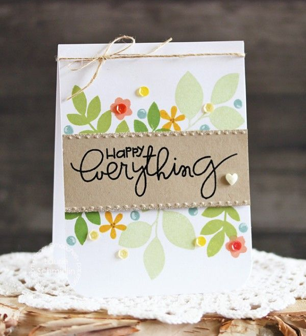 STAMPtember® Feature: Paper Smooches! | Happy Everything by Laurie Schmidlin | Simon Says Stamp Blog