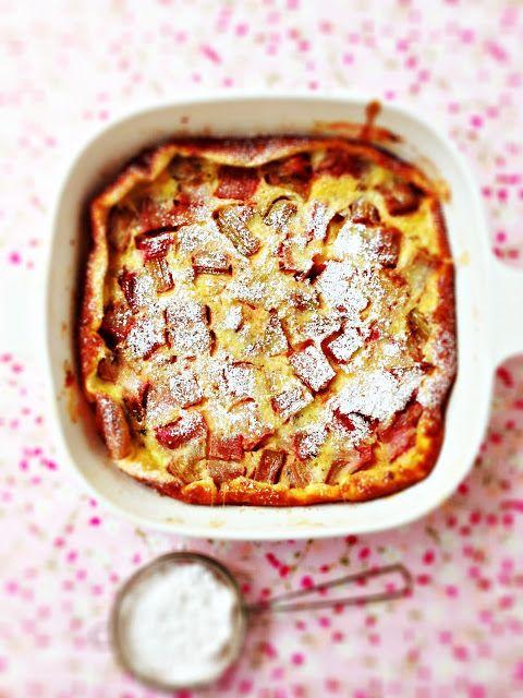 Roasted Rhubarb & Vanilla Bean Clafoutis   Sweet like sugar   Pintere ...