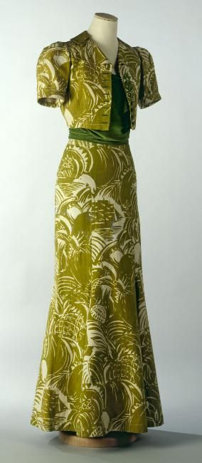 "Jacques Heim  Couturier   1935 Dufy, Raoul Painter   Férier Bianchini- Trader-maker   ""Pirates"""