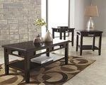Ashley Logan Dark Brown Occasional Table Set