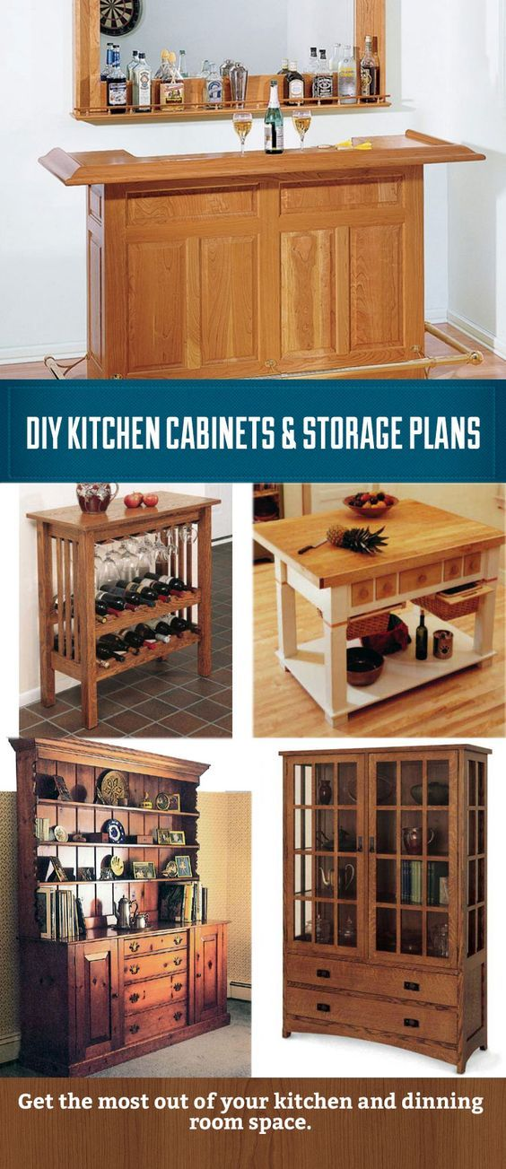 Save Money And Build Your Own Kitchen Cabinet Hutch Bar Or Island With These Plans As A Guide
