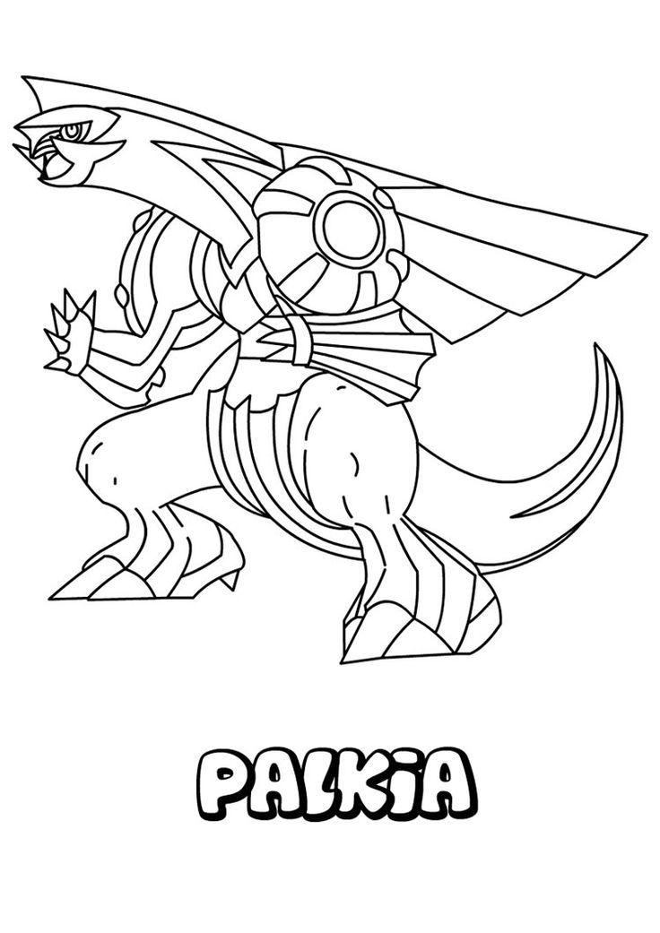 Legendary Pokemon Coloring Pages Palkia