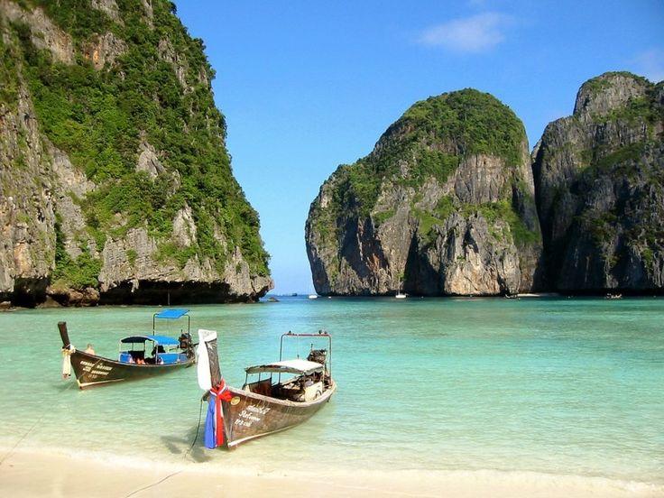 Maya bay op Koh Phi Phi Leh, Thailand