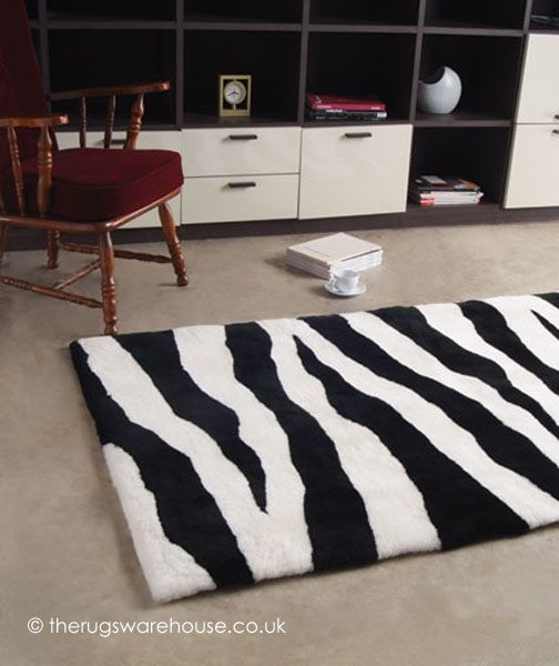 Zebra Rug Is An Ultra Luxurious New Zealand Wool Sheepskin Designer In A Monochrome