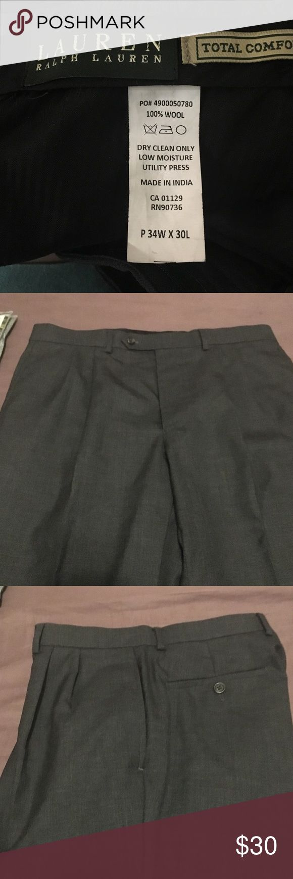 New dress pants Ralph Laurent 100% wool I both this pants for my soon but he never used  it, in new condition Ralph Lauren  total comfort made in India p 34w x 30 L Ralph Lauren Pants Dress