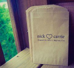 Candy bag ideaWedding Programs, Popcorn Bags, Lisse Maria, Bjørnar Candies, Candies Bags, Brew Creek, 100 Flats Laydown, Big, Bags Ideas