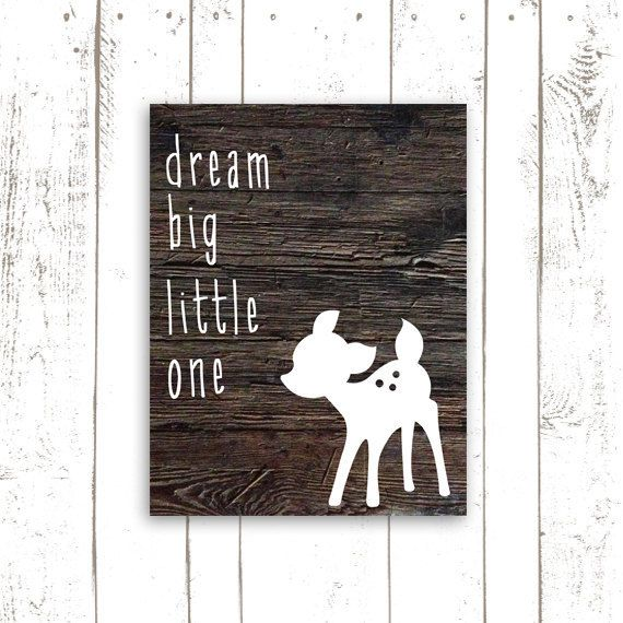 Dream Big Little One Art Print  Nursery by MooseberryPrintShop, $18.00