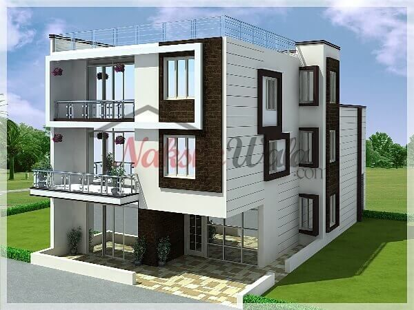 Elevations of single storey residential buildings google for 3 storey building front elevation