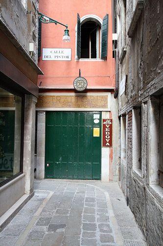 Ruta por Italia 2009 - Venecia, Calle del Pistor. Bacari di Venezia: Alla Vedova calle del Pistor 3912