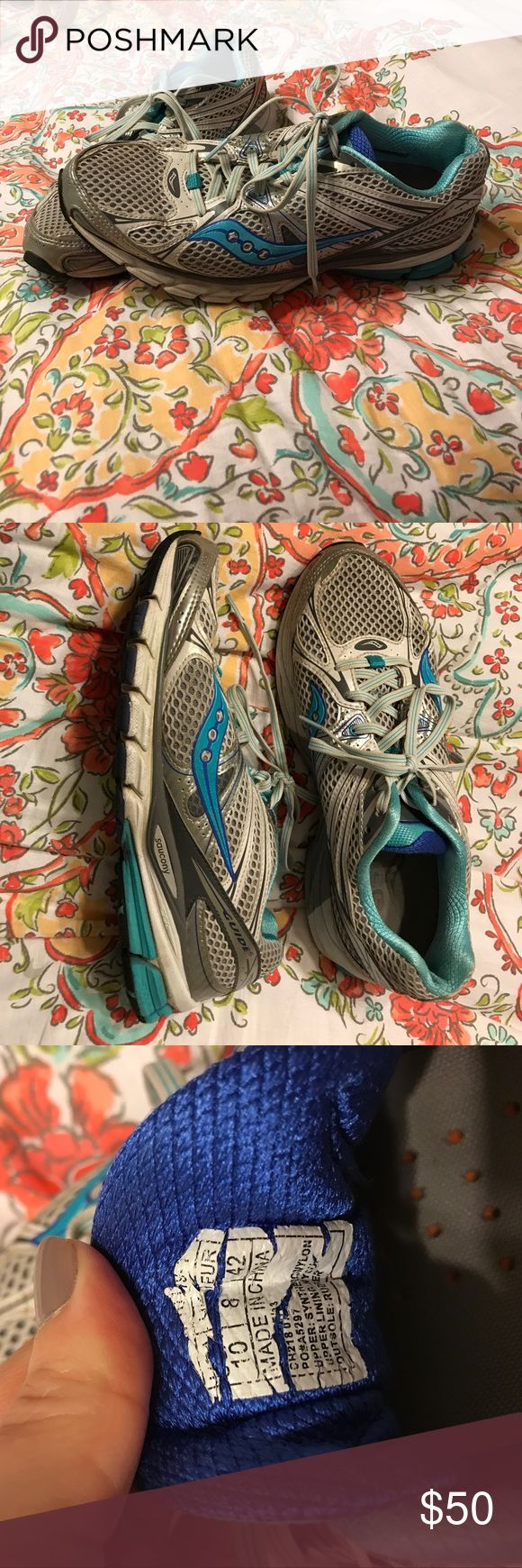 Womens Saucony size 10 tennis shoes Women's Saucony tennis shoes. Size 10. Used but still have lots of wear left in these. Bought these at a speciality athletic shoe store Saucony Shoes Athletic Shoes