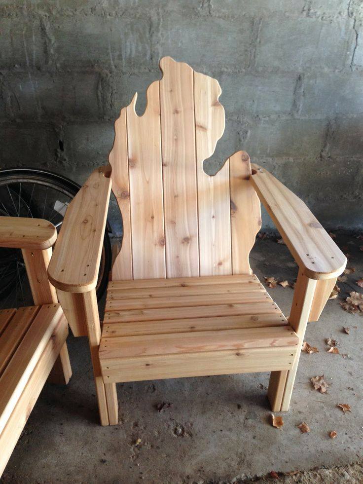 The Little Island Farmhouse adirondack chair in Michigan