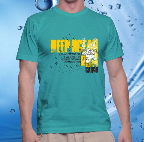 tshirt men, cotton combet gildan front custom Deep Ocean (jade) – UCUSTOMCASE