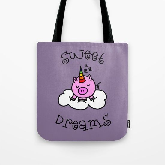 Buy SWEET DREAMS Tote Bag by ongadesign. Worldwide shipping available at Society6.com. Just one of millions of high quality products available.