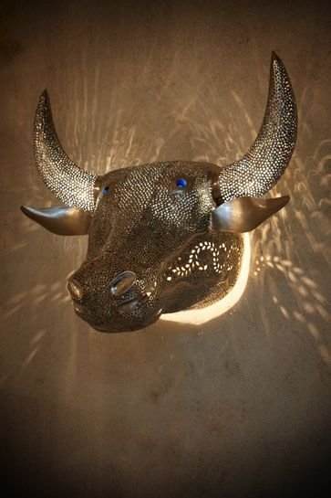 Holy Cow Blue Wall Lamp