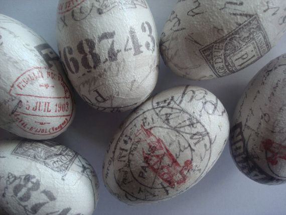 letters easter  eggs by Valelval on Etsy